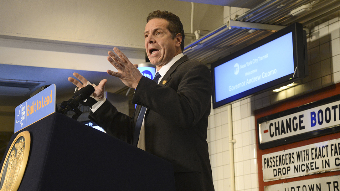 New York Gov. Andrew Cuomo raise gun background check to 30 days