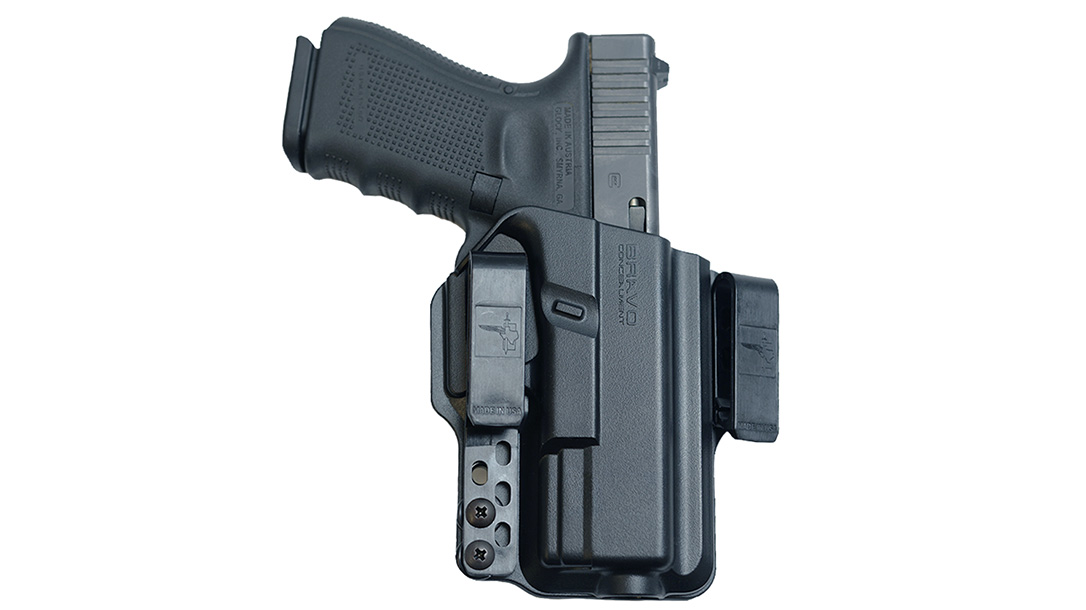 Bravo Concealment Torsion 3.0 IWB holster, gun