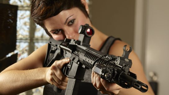AR-15, girl with AR-15