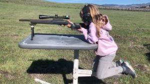 Carey Hart Teaches Daughter to Shoot