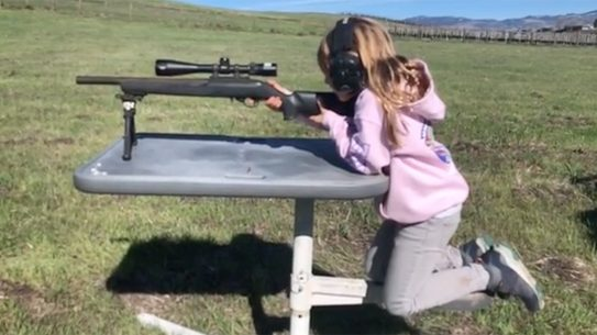 Carey Hart Teaches Daughter to Shoot