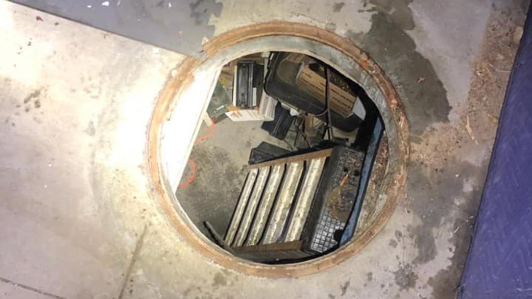 Underground Shooting Range, Manhole cover