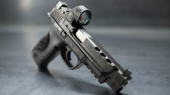 Trijicon SRO red dot optic, handgun