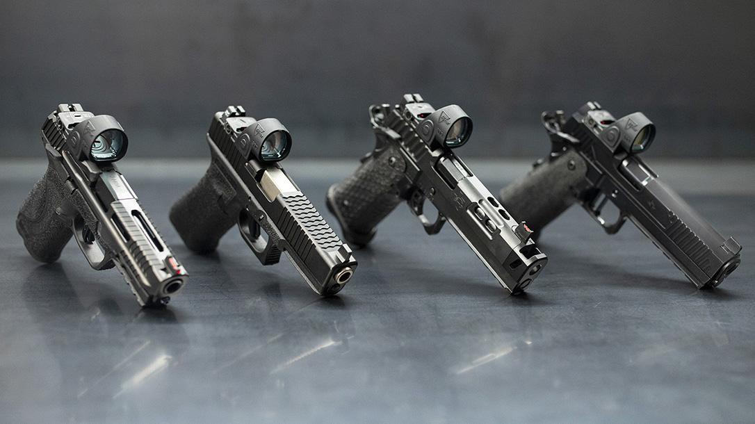 Trijicon SRO red dot optic, pistols