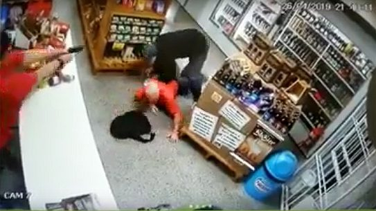 Brazilian Store Clerk With Bad Gun Skills Shoots Armed Robber