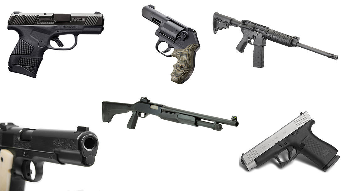 Guns for Home Protection, handguns, rifles, shotguns