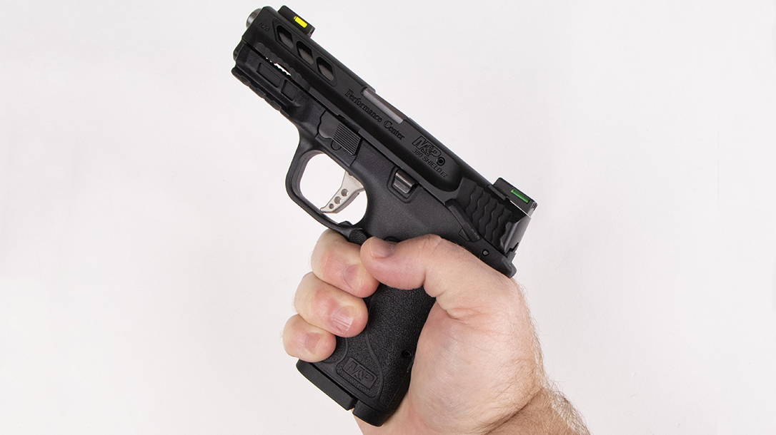 Performance Center M&P Shield 380 EZ Pistol review, grip