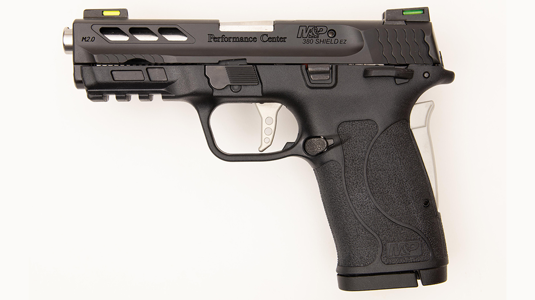 Performance Center M&P Shield 380 EZ Pistol review, left