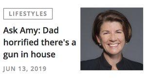 Dear Amy, Chicago Tribune, Legal Gun Ownership