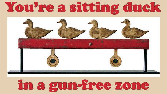 Second Amendment Foundation, gun-free zone, sitting duck