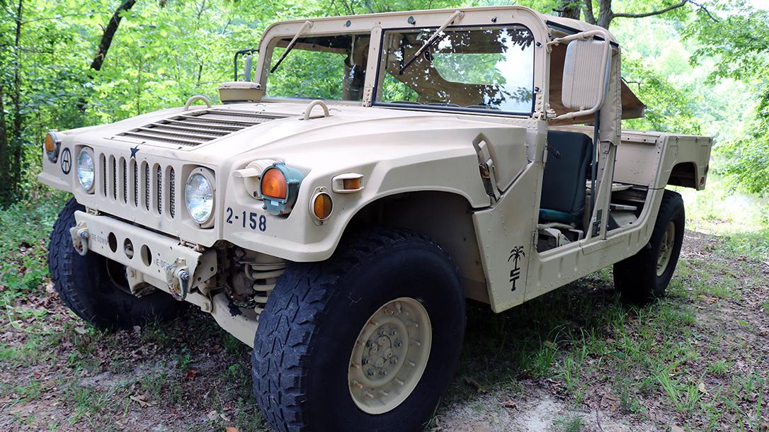 Military Humvee Left Qaurter.