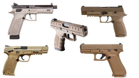 Modular Handgun System pistols include Beretta, SIG Sauer, Glock, CZ-USA, and Smith & Wesson