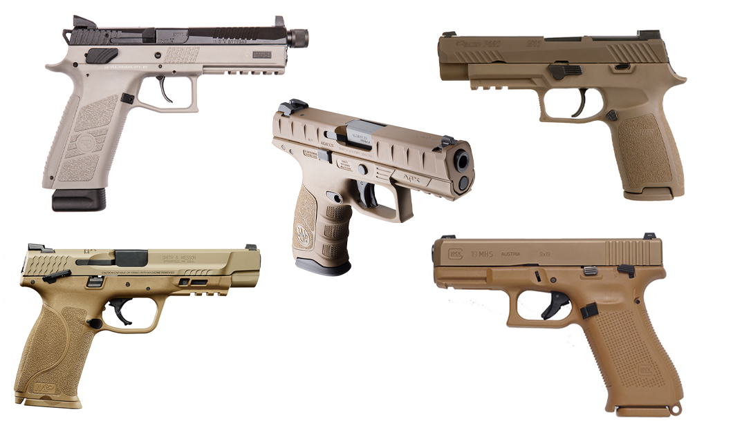 Modular Handgun System pistols include Beretta, SIG Sauer, Glock, CZ-USA, and Smith & Wesson