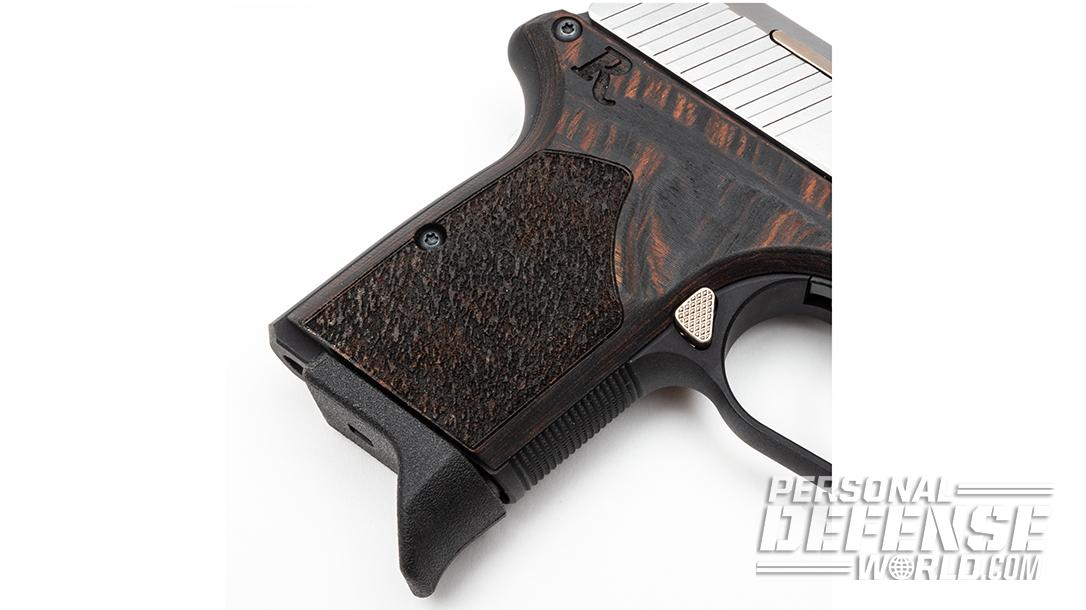 RM380 Executive features Laminate Macassar grips