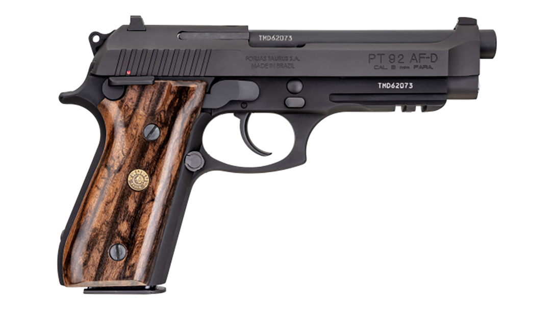 Two Taurus 92 models feature Brazilian Walnut Grips