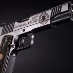 Auto-Ordnance Trump 1911 features presidential seal on left side