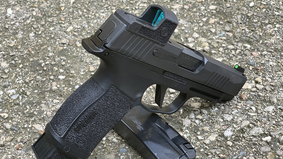 Sauer red dot sight, right