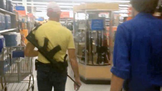 Walmart stops handgun ammo sales and bans open carry in stores.