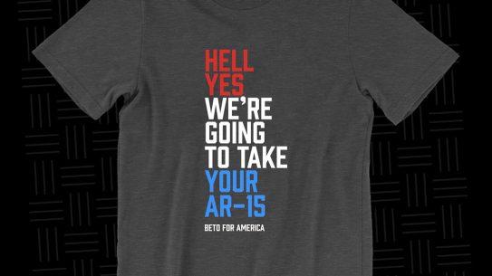 Beto O'Rourke guns, gun control, AR-15 t-shirt
