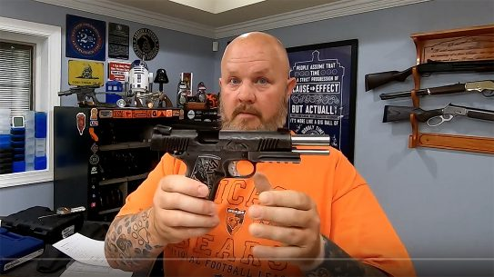 A man posted a video following a Desert Eagle negligent discharge, promoting safety.