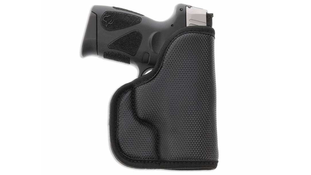The Galco StukOn-U holster fits subcompact semi-autos.