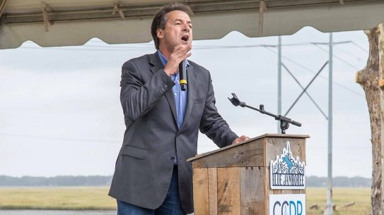 Montana Governor Steve Bullock pushes for gun control.