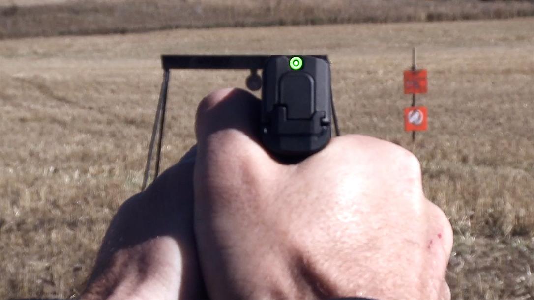 The SIG Sauer P365 SAS employs a revolutionary new sighting system.