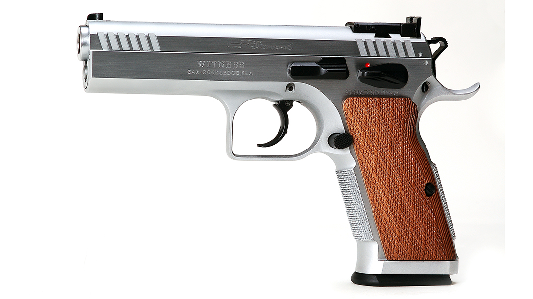 The EAA Witness Elite Stock II exhibited a great single-action trigger.