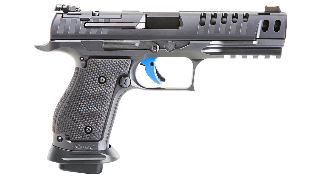 The Walther Q5 Match Steel Frame Pro exhibits considerable frame weight.
