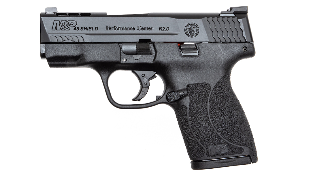 The S&W PC Ported M&P45 Shield M2.0 delivered more capacity and greater recoil mitigation.