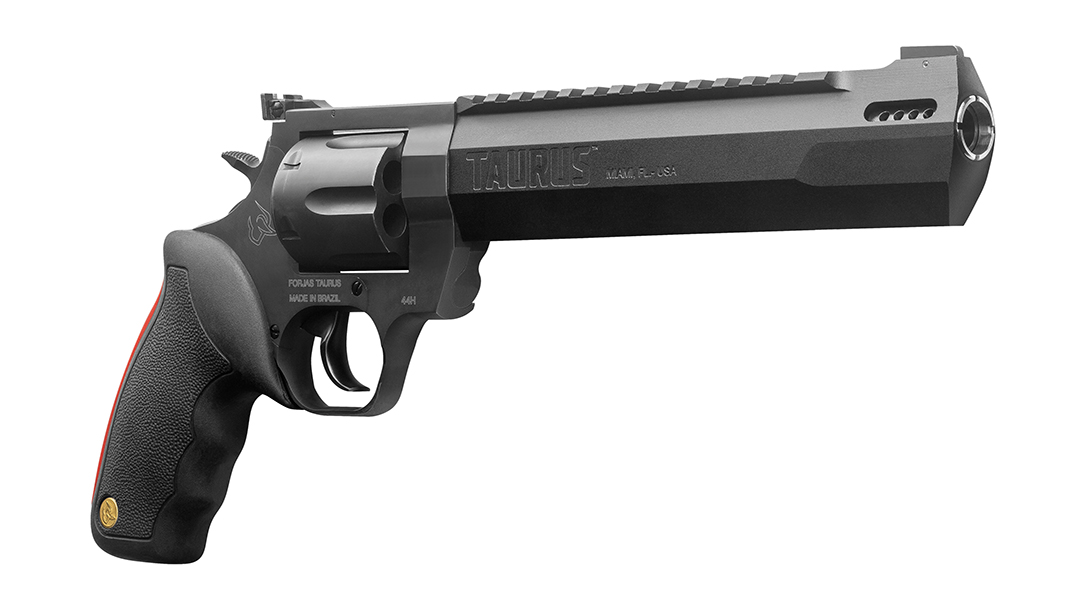 The Taurus Raging Hunter features a ported barrel, to keep down muzzle rise.