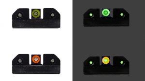 XS RAM Night Sights provide contrast during bright or low-light conditions.