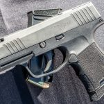 Sauer Snag Free Pistol, concealed carry, table