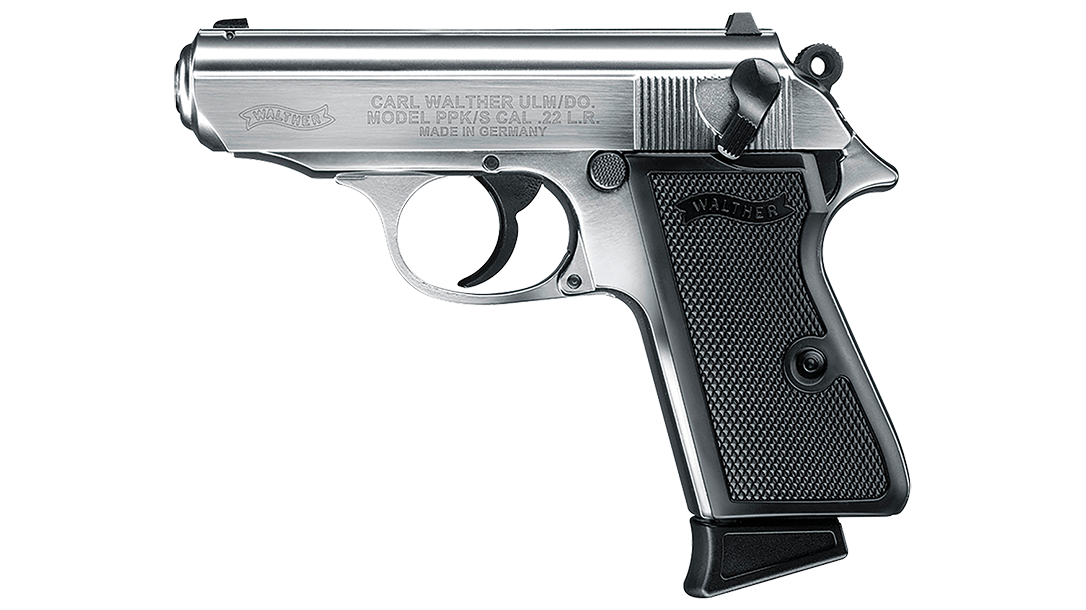 New Walther PPK/s pistols feature a larger beavertail to minimize slide bite.