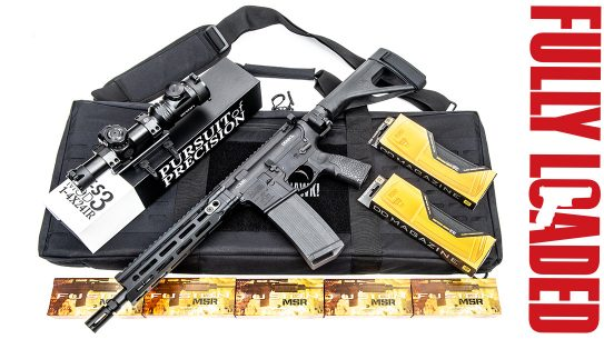 Daniel Defense DDM4V7 Pistol, fully loaded, side