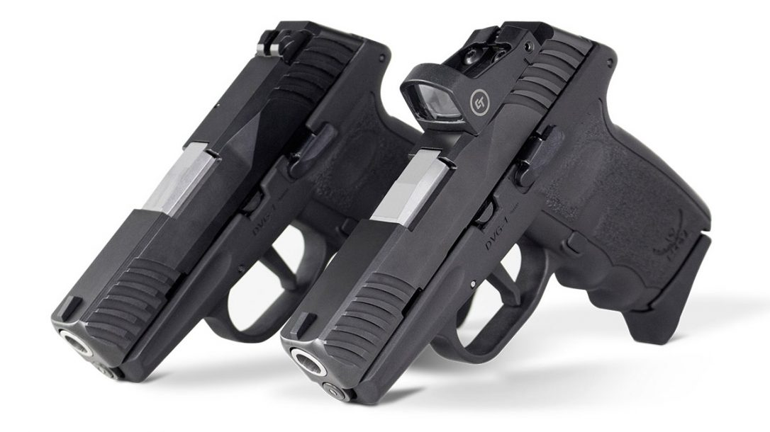 The new striker-fired SCCY DVG series pistols come at a competitive price.