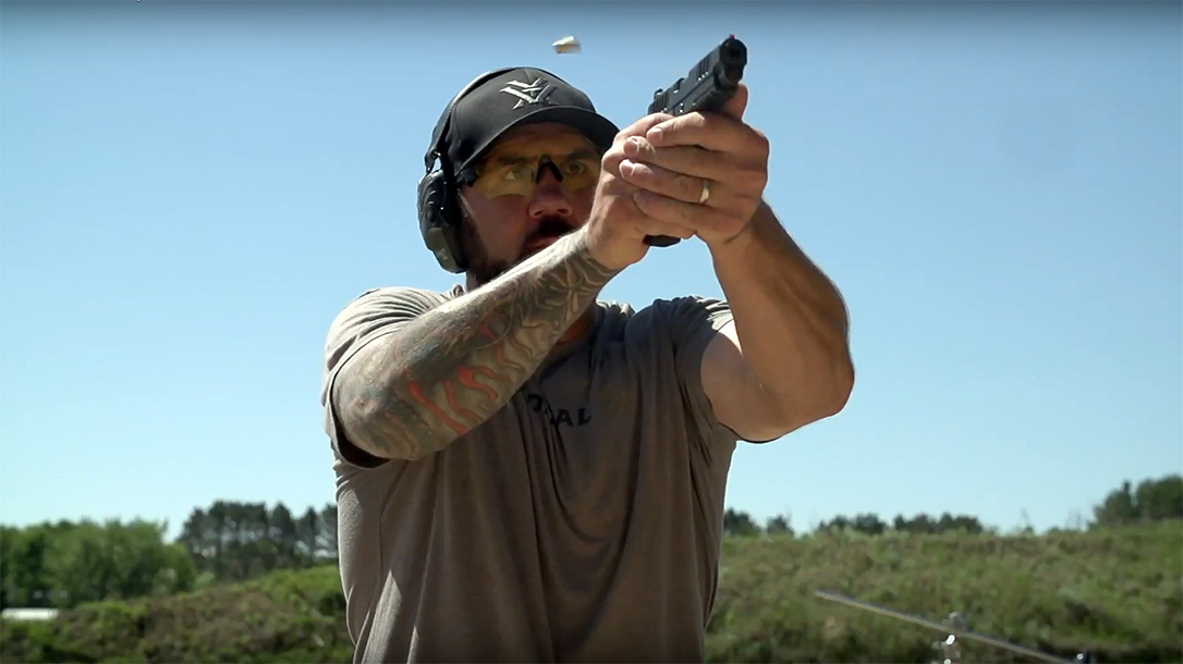 Pistol Drawing, Josh Froelich teaches his preferred conceal carry drill on target transitions.