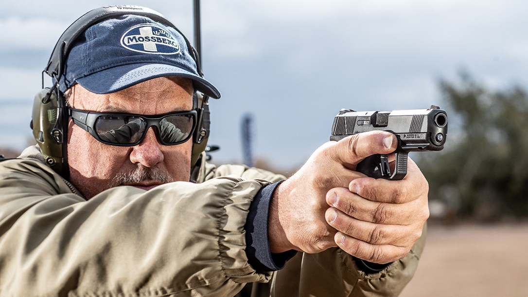 The new Mossberg MC2c proved highly capable during range testing.