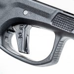 The flat trigger includes a passive safety system.