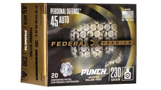 Federal Punch ammo is designed to perform in typical self-defense scenarios.