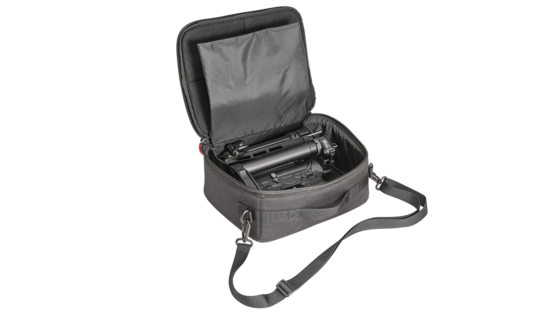 The size of the discreet carry case opens tremendous possibility in terms of carry and transport.