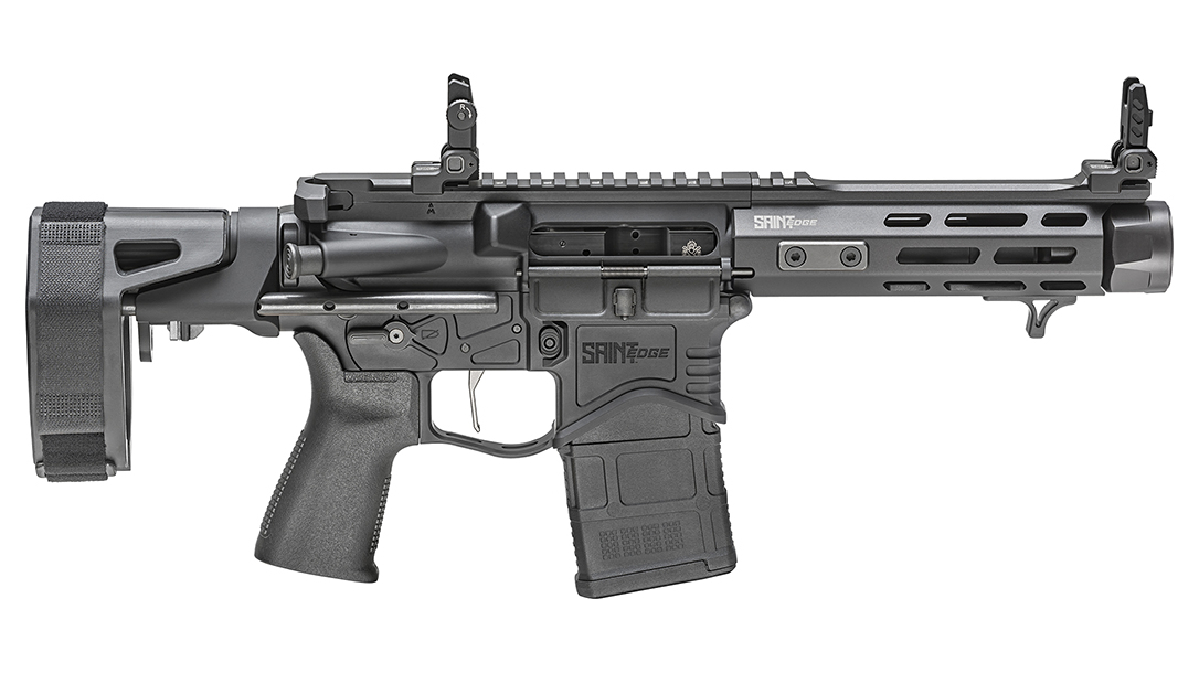With a 5.5-inch barrel and 18.75-inch overall length, the Springfield SAINT Edge PDW becomes a unique self-defense tool.