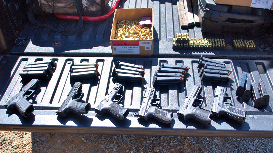 We put six full size handguns through a test to determine the best 9mm pistol.