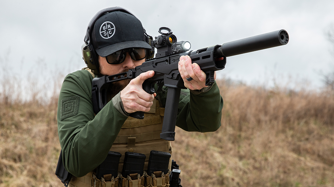 The new pistol proved nimble on the range.