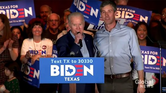 Beto O'Rourke Gun Control, While rallying voters in Dallas ahead of Super Tuesday, Joe Biden promises Beto O'Rourke will lead the charge on gun control in a Biden White House.