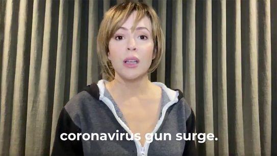 Alyssa Milano, Stop the Coronavirus Gun Surge