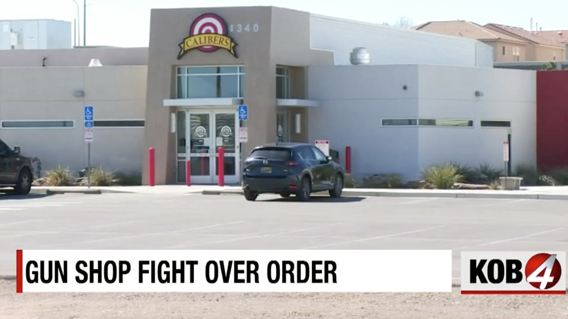 Calibers gun store challenges the New Mexico governor's order to close.