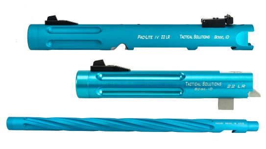 The new limited edition Tactical Solutions Turquoise barrels and rifles raise money to help fight COVID-19.