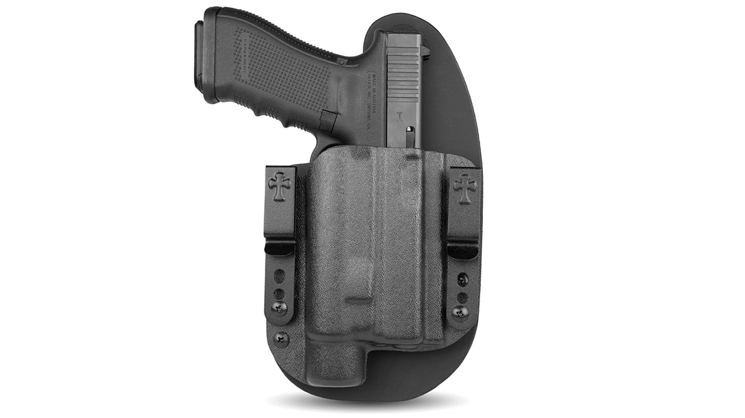 Offering fits for the Glock 19, SIG 365, S&W M&P9 Shield and more, the CrossBreed LDS 2.0 handles several top weapon-mounted lights for concealed carry.