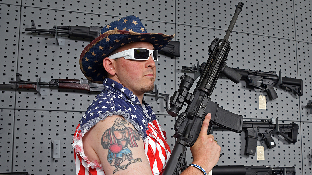 The pissed off patriot can do more harm than good, like open carrying ARs in front of soccer moms.